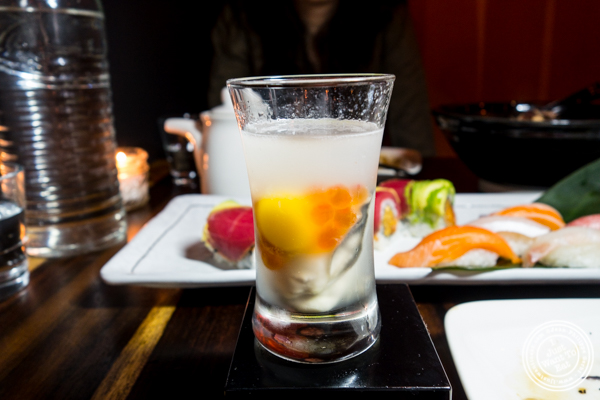 Oyster shooter at Amami in Greenpoint, Brooklyn