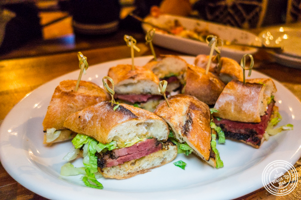 Pastrami sandwich at Hudson Hall in Jersey City, NJ