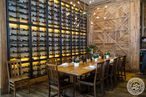 Dining room at L'Amico in Chelsea, NYC, NY