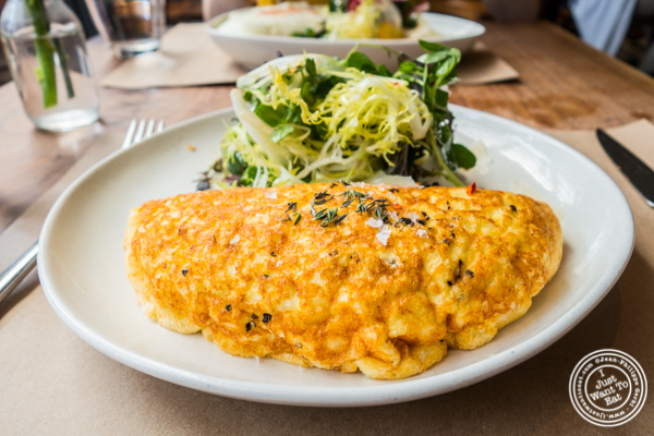 Omelette soufflé at L'Amico in Chelsea, NYC, NY