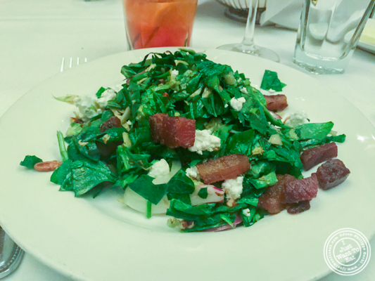 Shaved Brussels Sprouts salad at The Capital Grille in NYC, NY