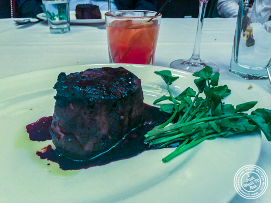 Filet mignon at The Capital Grille in NYC, NY