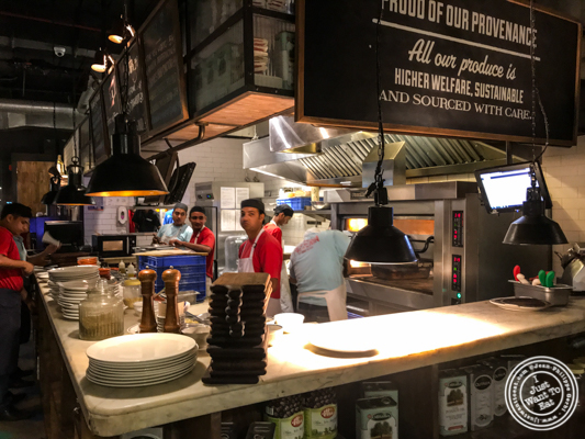 Kitchen at Jamie's Pizzeria at The Ambience Mall in Gurgaon, India