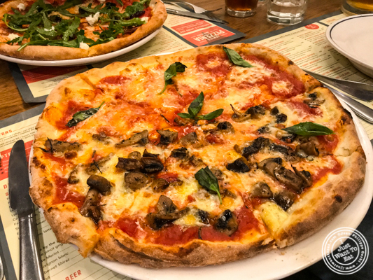 Margarita pizza at Jamie's Pizzeria at The Ambience Mall in Gurgaon, India