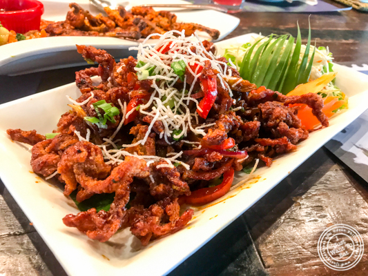 Crispy lamb chili pepper at Soi 7 Pub & Brewery at The Cyber Hub in Gurgaon, India