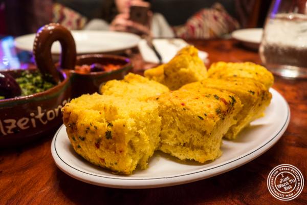 Semolina bread at Tagine in NYC, NY