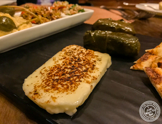 Grilled haloumi cheese at Bistro 72 in Riverhead, Long Island
