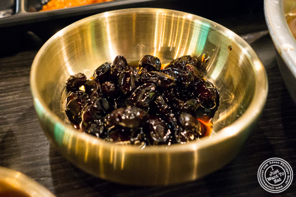 Caramelized black beans at Dons Bogam Black in NYC, NY