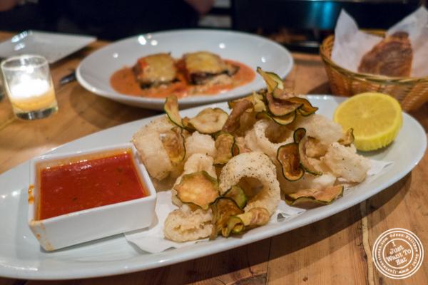 Calamari fritti at Bocca di Bacco in Hell's Kitchen
