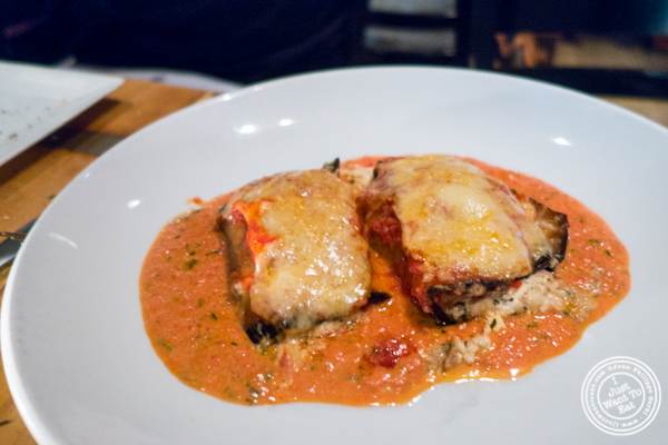 Involtini de Melanzane at Bocca di Bacco in Hell's Kitchen