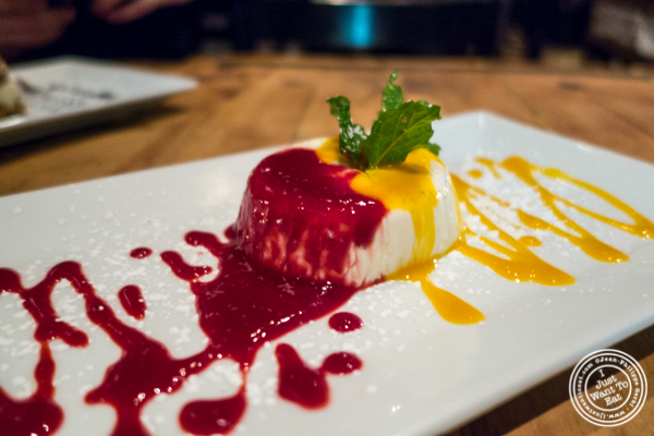 Panna cotta at Bocca di Bacco in Hell's Kitchen