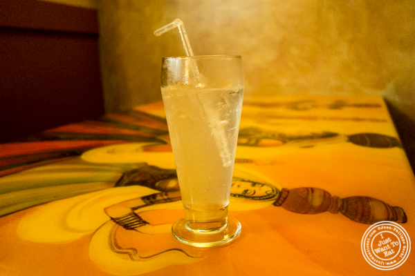 Fresh lime soda at Vatan in Murray Hill, NYC
