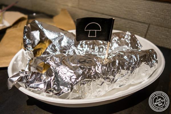 Mushrooms kati rolls at Indikitch in NYC, NY
