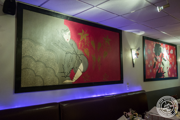 Decor at Paname, French restaurant, in NYC, NY