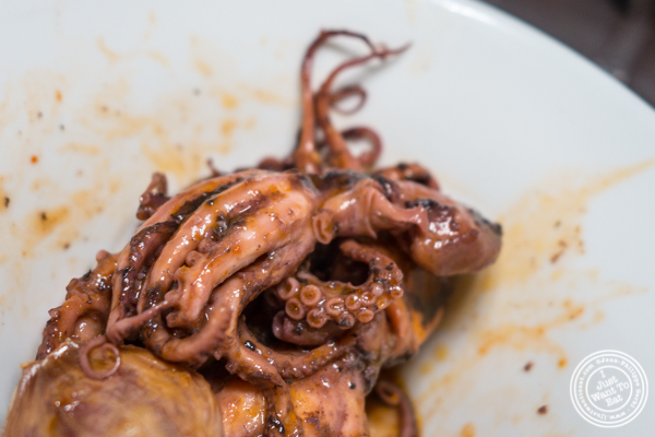 Baby octopus with haricots blancs at Paname, French restaurant, in NYC, NY