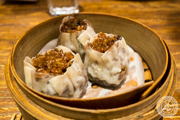 Sticky rice bacon siu mai at Hao Noodle and Tea by Madam Zhu's Kitchen in NYC, NY