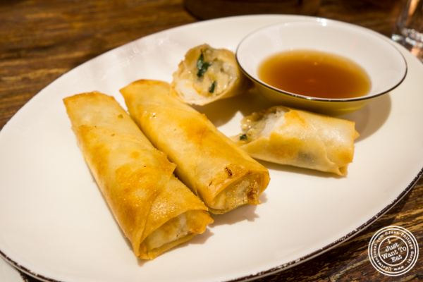 Vegetable Spring rolls at Hao Noodle and Tea by Madam Zhu's Kitchen in NYC, NY