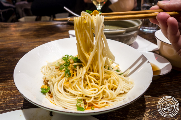 Dan Dan Noodles at Hao Noodle and Tea by Madam Zhu's Kitchen in NYC, NY