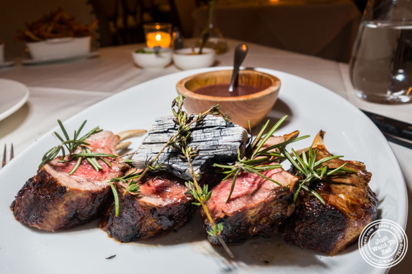 Lamb chops at Chimichurri Grill East in NYC, NY