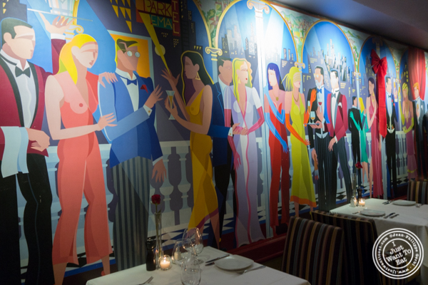 Decor at Lincoln Square Steakhouse on the Upper West Side, NYC