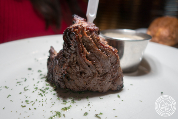 Filet mignon at Lincoln Square Steakhouse on the Upper West Side, NYC