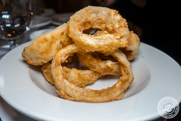 Onion rings at Lincoln Square Steakhouse on the Upper West Side, NYC