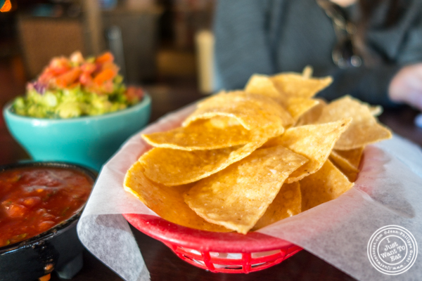 Tortilla chips at El Original in Hell's Kitchen, NYC