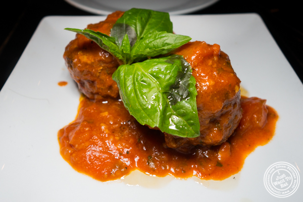 Meatballs at Bocca di Bacco in Hell's Kitchen