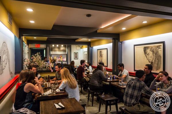Dining room at Ramen-Ya Samurai Edition in the West Village