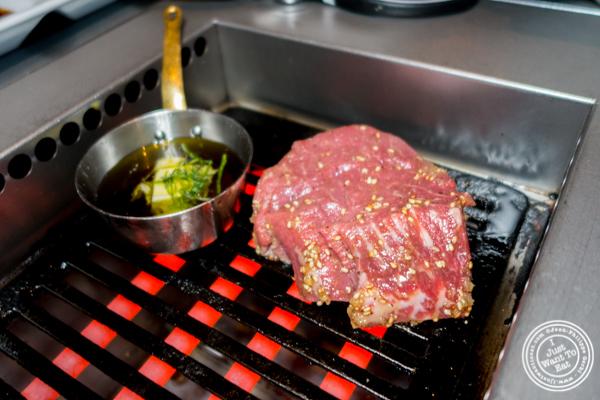 Filet steak at Yakiniku Futago in NYC, NY