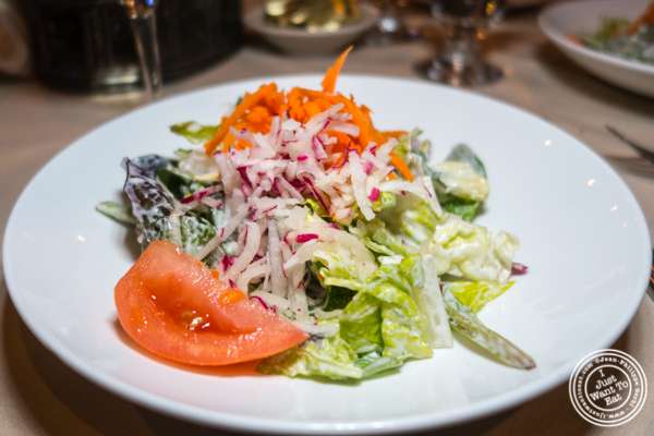 Blue cheese salad at Mont Blanc 52 in NYC, NY
