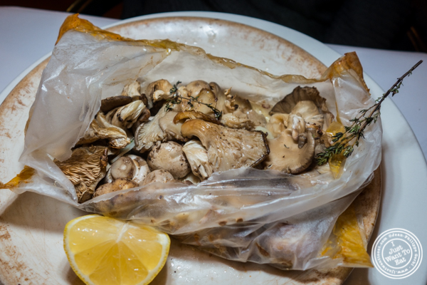 Baked mushrooms at Basta Pasta in Chelsea, NYC
