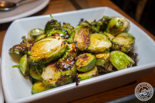 Roasted brussels sprouts at The Little Beet Table in NYC, NY
