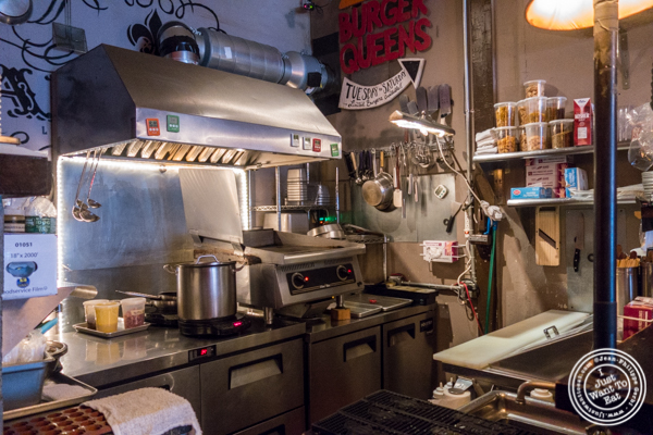 Open kitchen at The Baroness in Long Island City