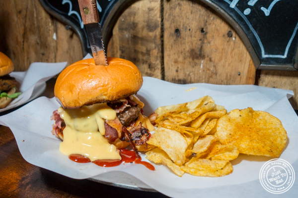 The Marylin burger at The Baroness in Long Island City