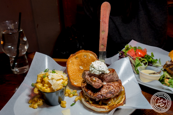 The Fiona burger at The Baroness in Long Island City