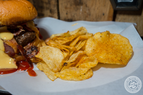 Kettle chips at The Baroness in Long Island City