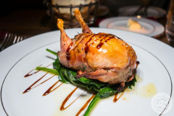 Stuffed quail at Boucherie Park Avenue South