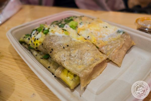 Vegetarian crepe at Mr Bing at Urbanspace Vanderbilt