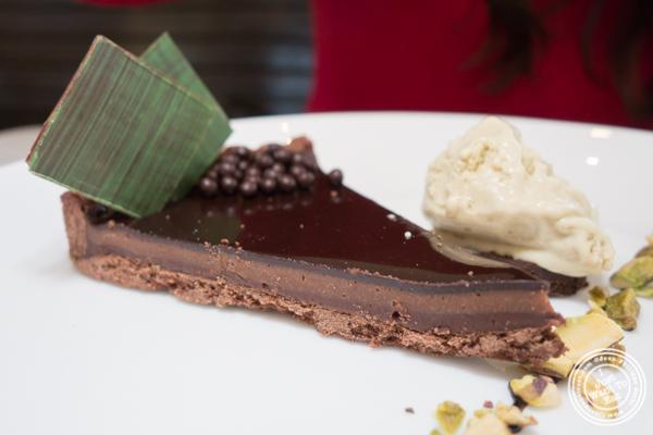 Chocolate tart at Cargot Brasserie in Princeton, NJ