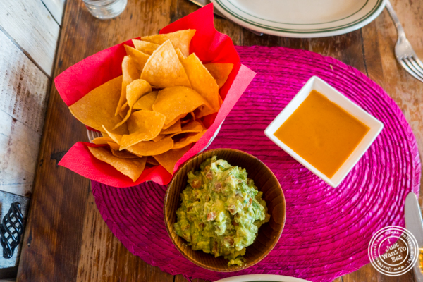 Guacamole and salsa at Tacuba in Hell's Kitchen, NYC, NY