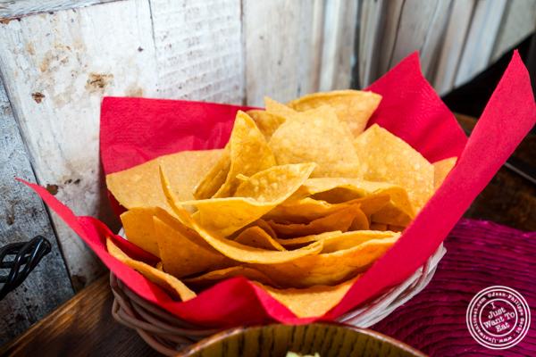 Tortilla chips at Tacuba in Hell's Kitchen, NYC, NY