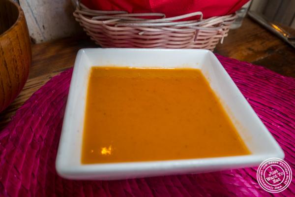 Roasted tomato salsa at Tacuba in Hell's Kitchen, NYC, NY