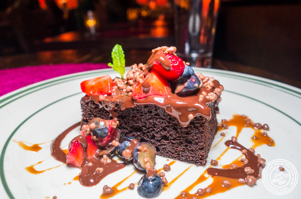 Chocolate crunch cake at Tacuba in Hell's Kitchen, NYC, NY