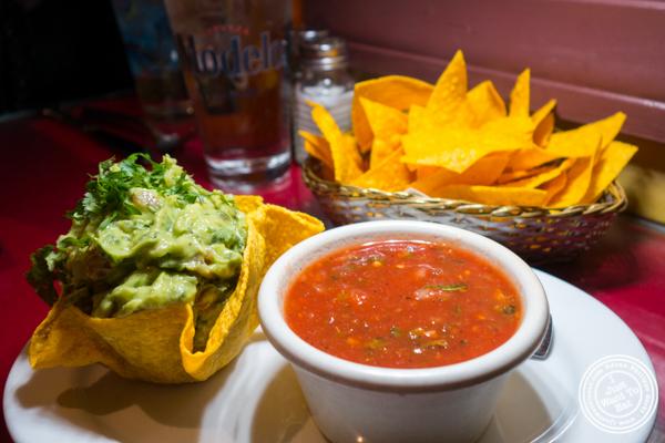 Guacamole and salsa at Mamasita in Hell's Kitchen, NYC, NY