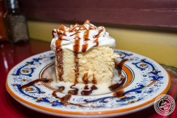 Tres leches cake at Mamasita in Hell's Kitchen, NYC, NY