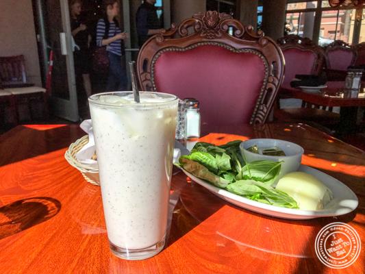 Homemade yogurt drink at The Persian Room in Phoenix, Az