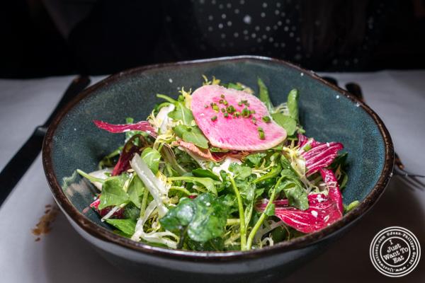 Market salad at Raoul's in Soho, NYC, NY
