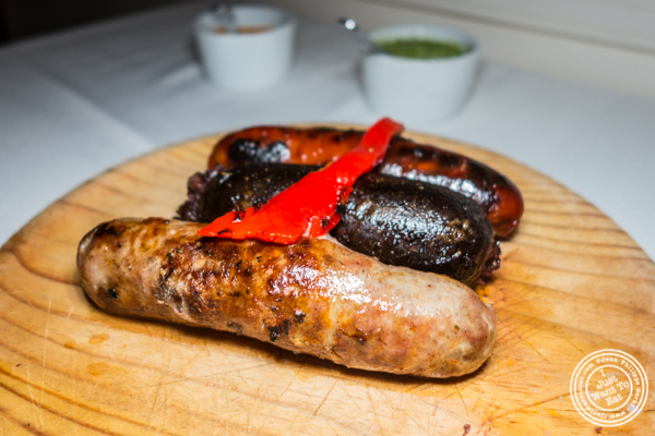 Trio de Chorizo Caseros at Chimichurri Grill West in Hell's Kitchen