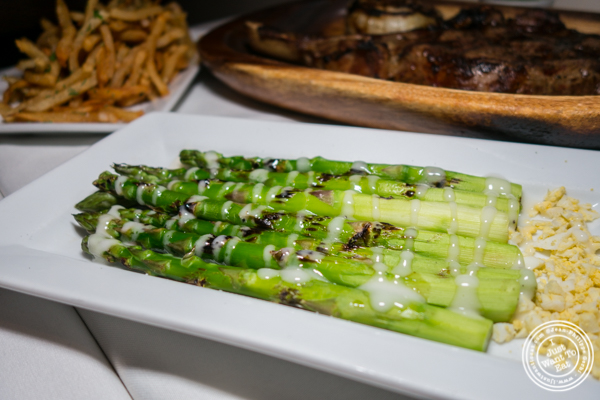 Asparagus with citrus vinaigrette at Chimichurri Grill West in Hell's Kitchen